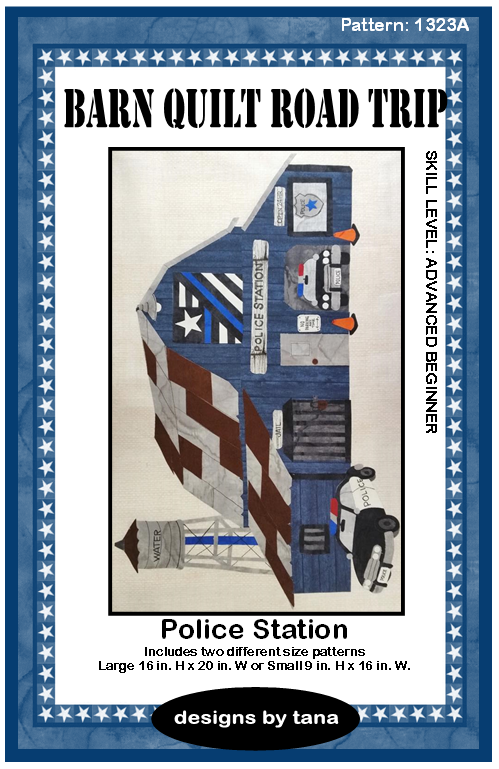 Barn Quilt Road Trip Police Station Pattern