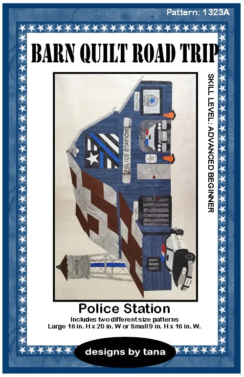 Barn Quilt Road Trip Police Station Kit