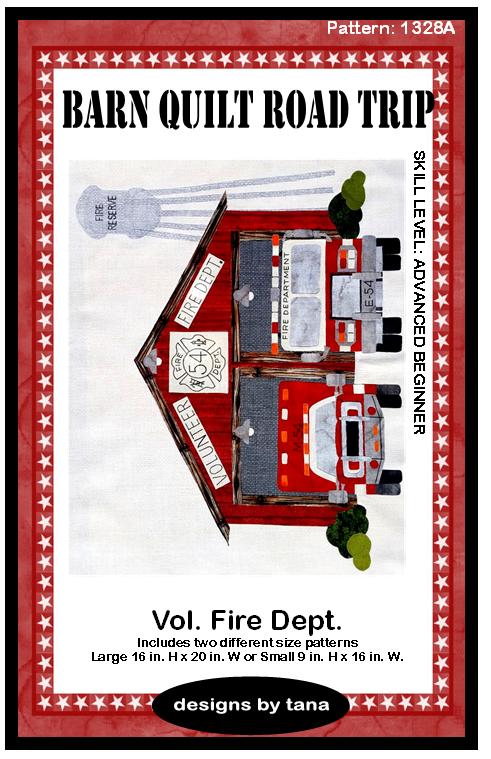 Barn Quilt Road Trip Vol Fire Dept Pattern