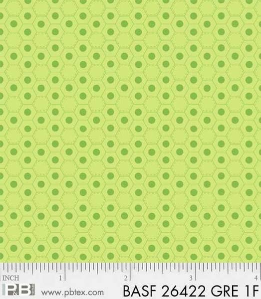 Basically Hugs Hexagon Green