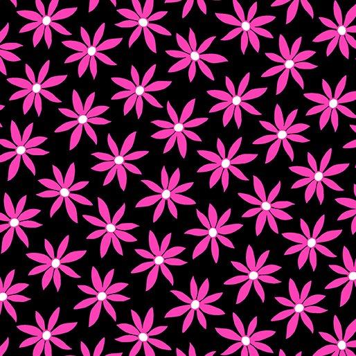 Daisy Dot Black Pink