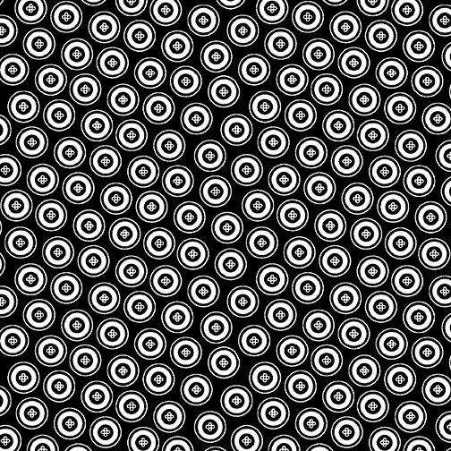 Night & Day Dotty Buttons Black
