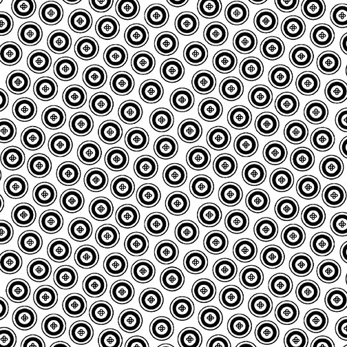 Night & Day Dotty Buttons White