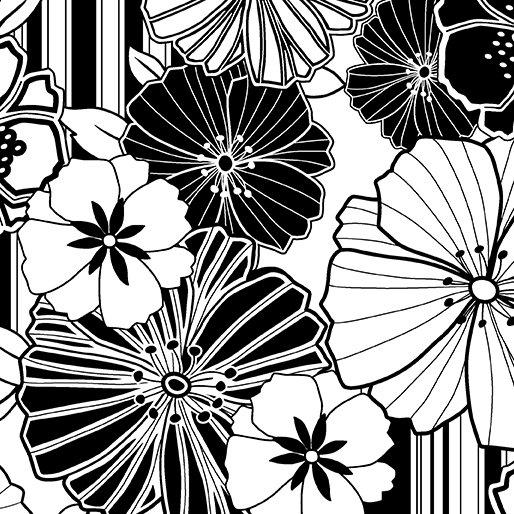 Graphic Poppy Black