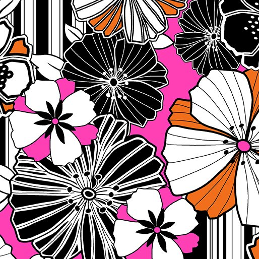 Graphic Poppy Pink
