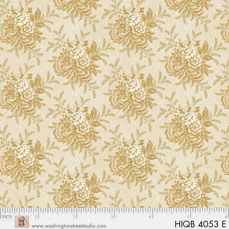 108 Floral Quilt Back Cream