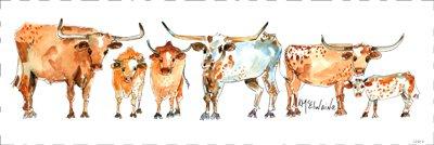 Quilt Block Art Longhorn Herd