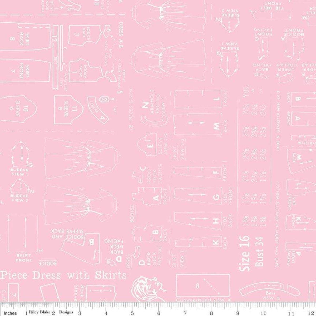 108 Pattern Quilt Back Pink