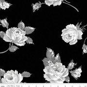 108 Serenity Floral Quilt Back Black