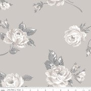 108 Serenity Floral Quilt Back Taupe