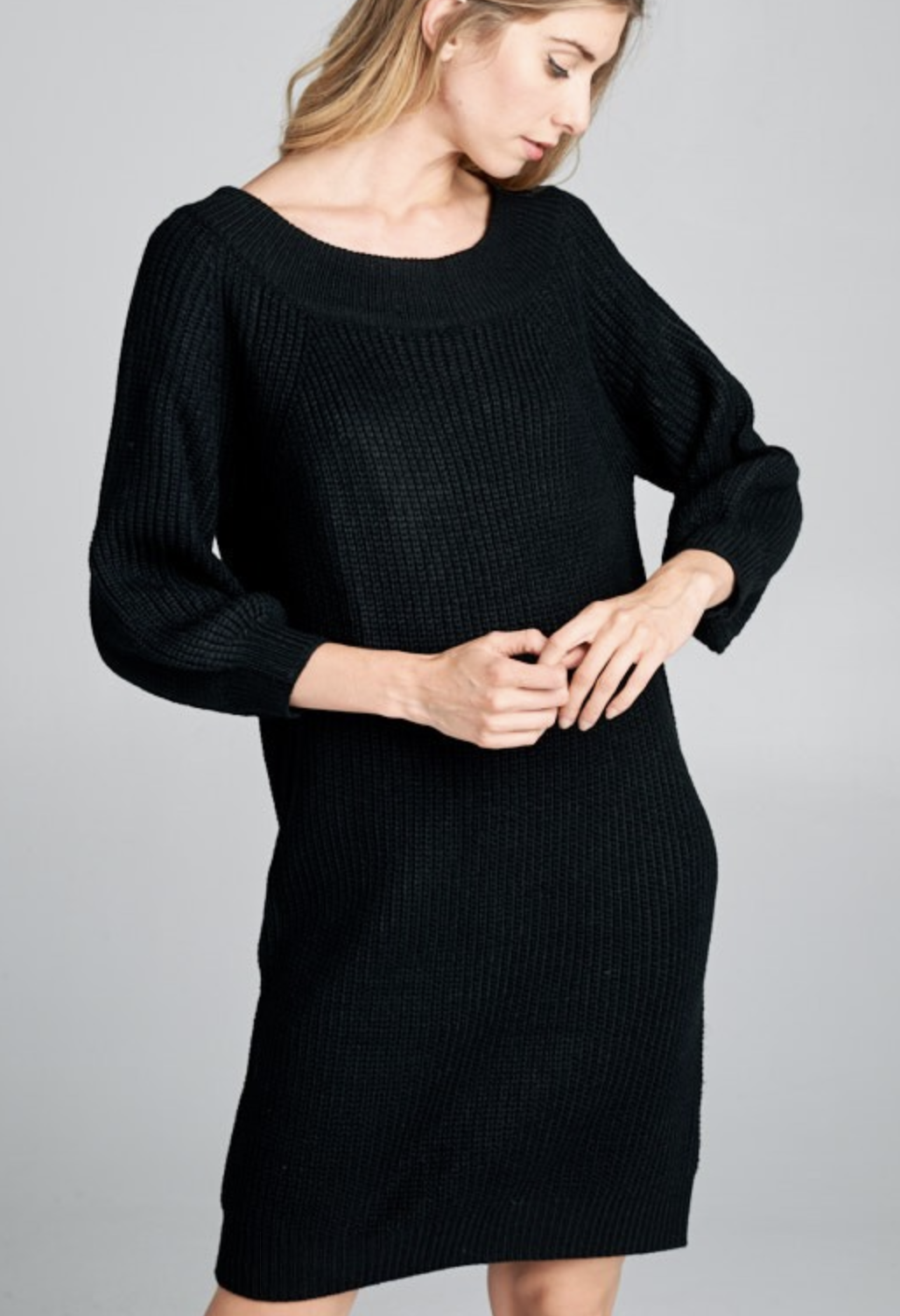 Ribbed Knit Comfy Dress