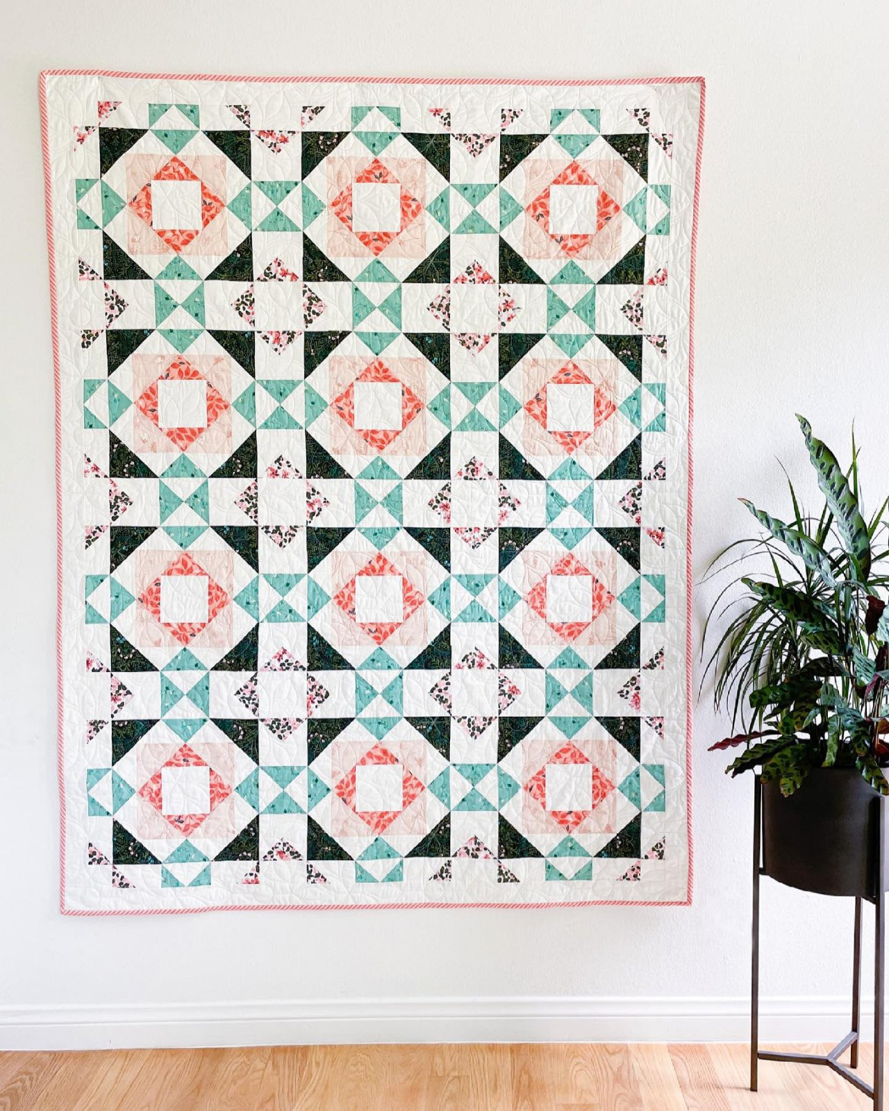 Lava Blooms Quilt Kit With Pattern