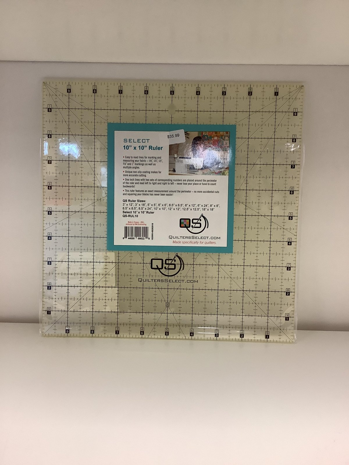 Quilters Select 10x10 non slip ruler
