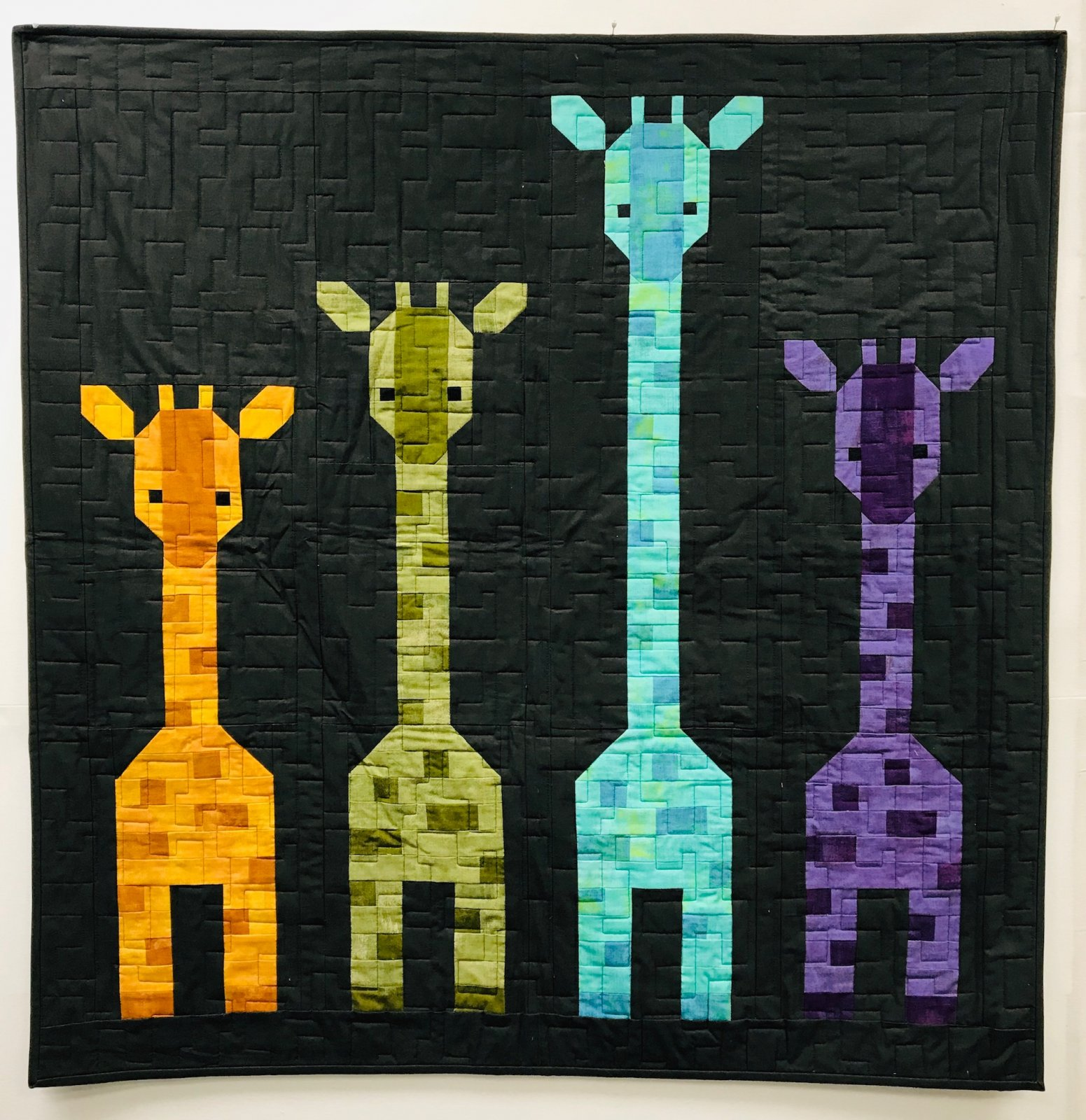 Giraffes In A Row Kit w/ Pattern