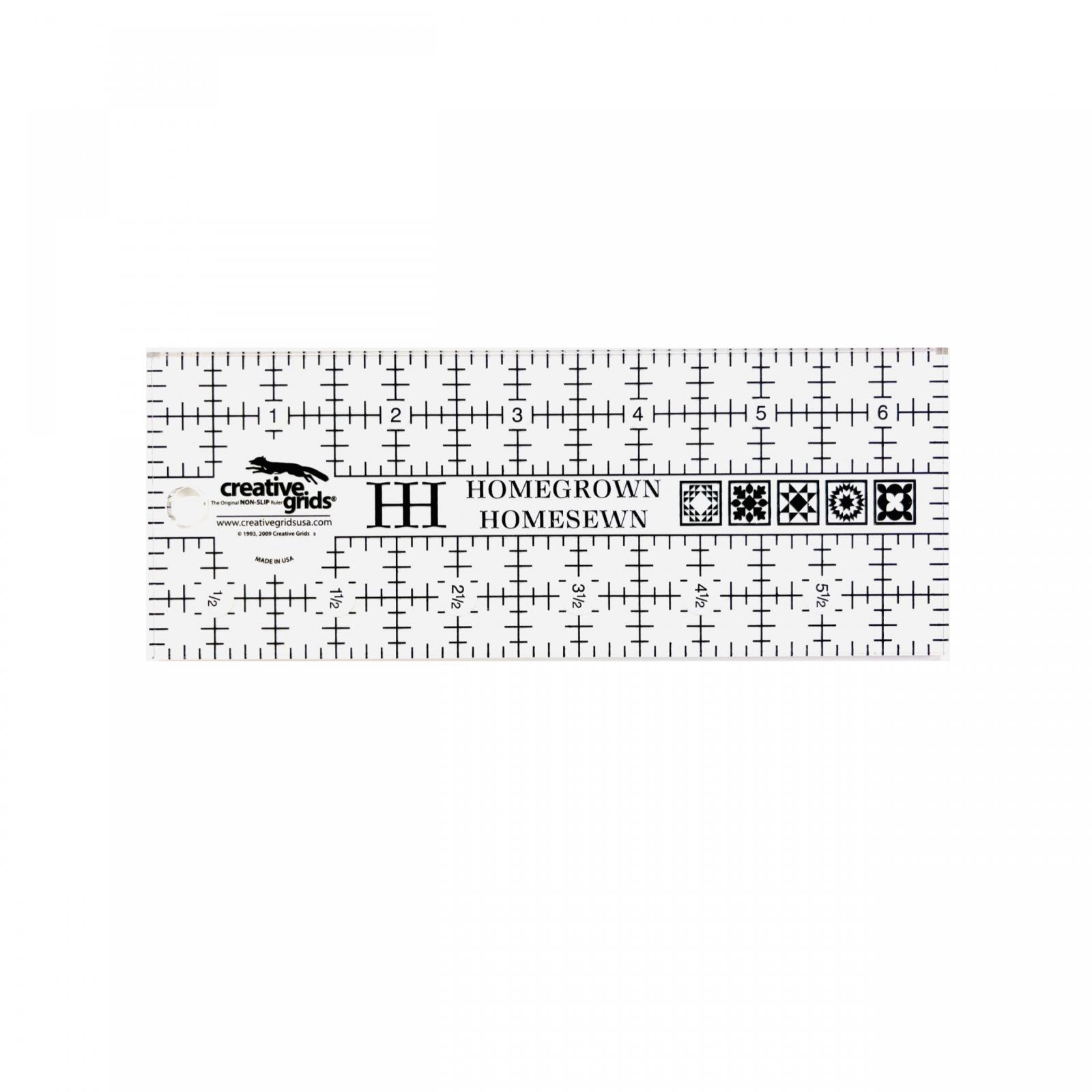 HomeGrown HomeSewn Creative Grid Ruler 6.5 x 2.5