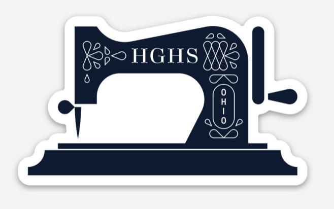 HGHS Sewing Machine Die Cut Sticker