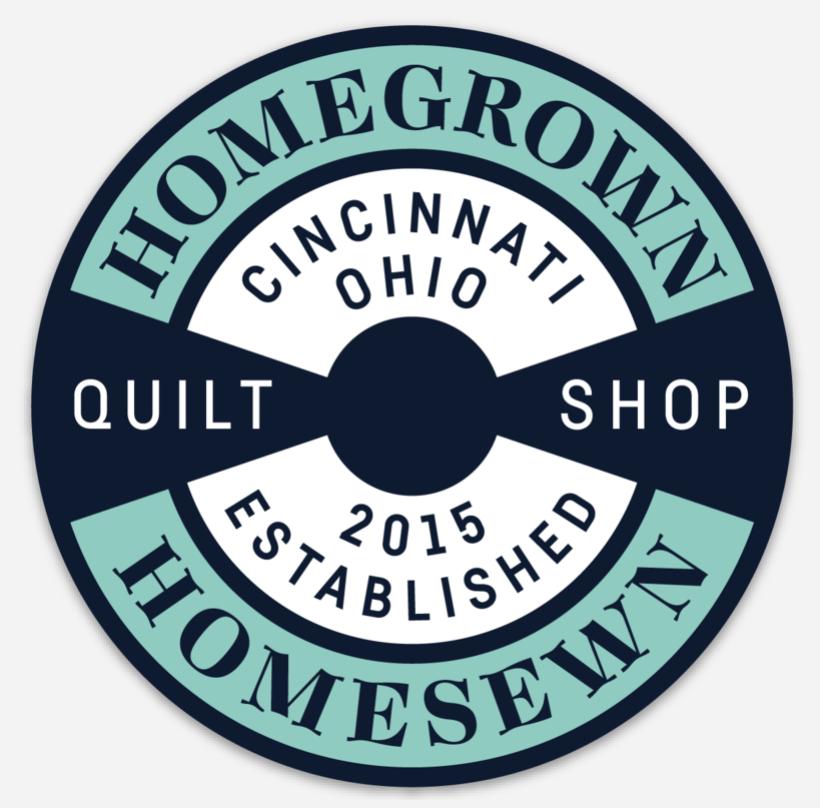 HomeGrown HomeSewn Circle Logo Magnets