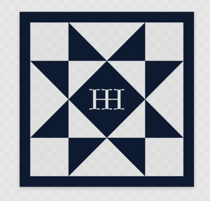 HomeGrown HomeSewn HH Block Clear Stickers