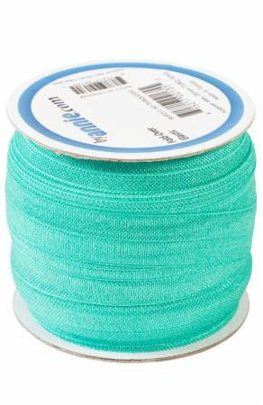 Fold-over Elastic 3/4in x 50yd Turquoise