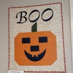 Boo Wall Hanging Quilt As You Go