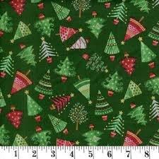 Fabric Traditional Metallic Christmas