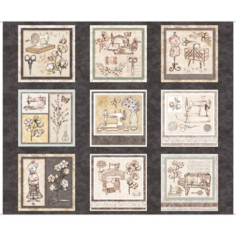 Cotton Couture Sewing Patches Charcoal