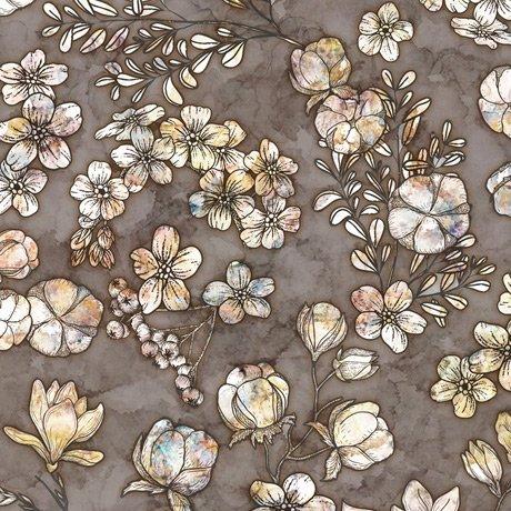 Cotton Couture Floral & Cotton Charcoal