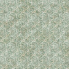Cotton Couture Floral Scroll Green
