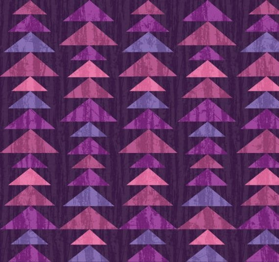Fabric, Enchanted Forest Eggplant