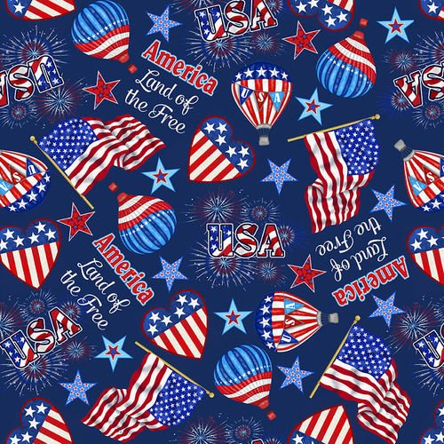 Fabric America Home Of The Brave 4622-77