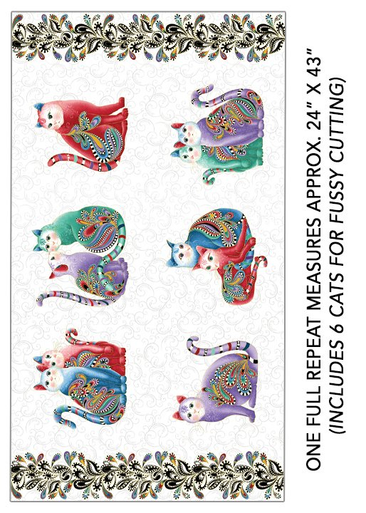 Fabric Cat 2 Purr Fect Together 7551M09