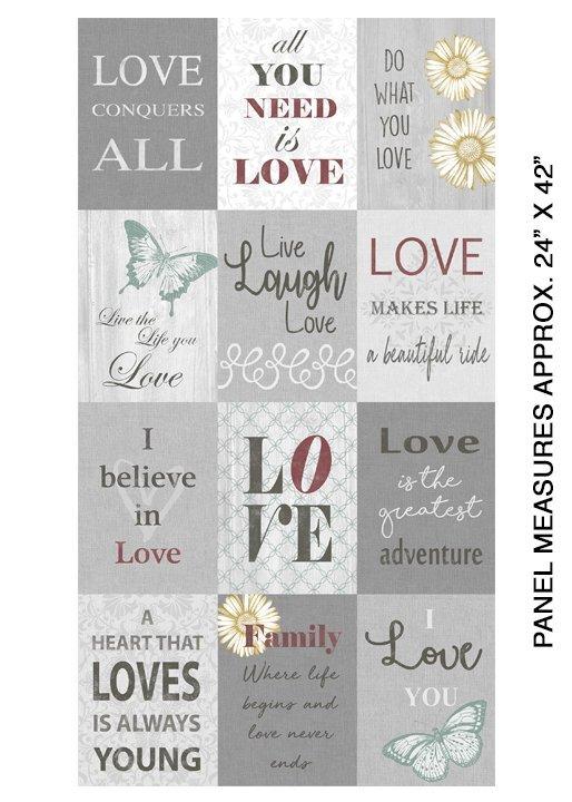 Fabric Love Panel 07702-99