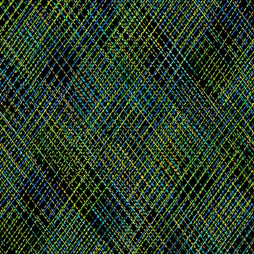 Embroidered Stitches Green 7911-44