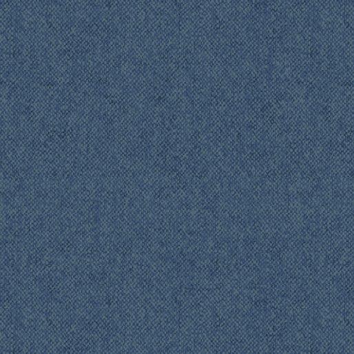 Wool Tweed Flannel Blue