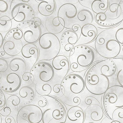 Backing Fabric Swirling Splendor Gray 108