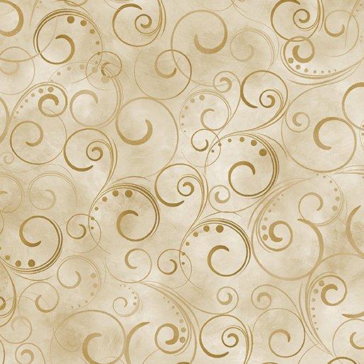 Backing Fabric Swirling Splendor Tan 108