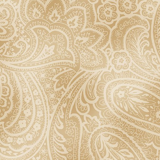 Fabric Radiant Paisley Wheat/Gold