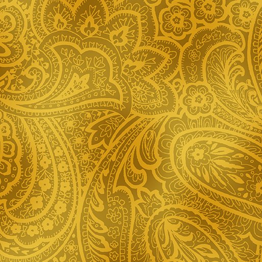 Fabric Radiant Paisley Butternut/Gold