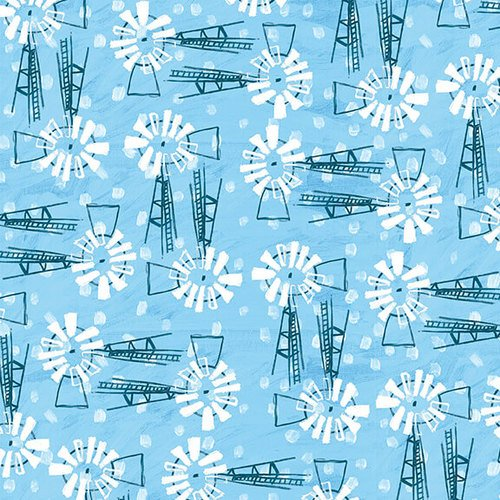Fabric Udder Chaos 9879-70 Blue
