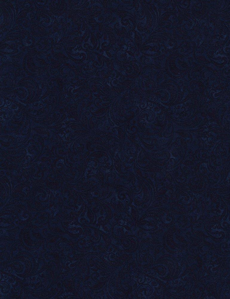Fabric Delicate Filigree Belle-C7800-Navy