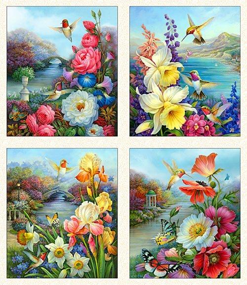 Panel Hummingbird Bouquet 9400