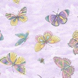 Fabric Graceful Garden Flitterflies P215-0152-635