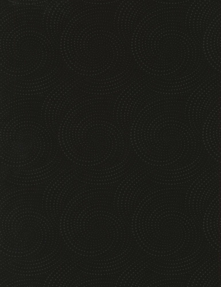 Fabric Spiral Dots Hue-C6076-Black