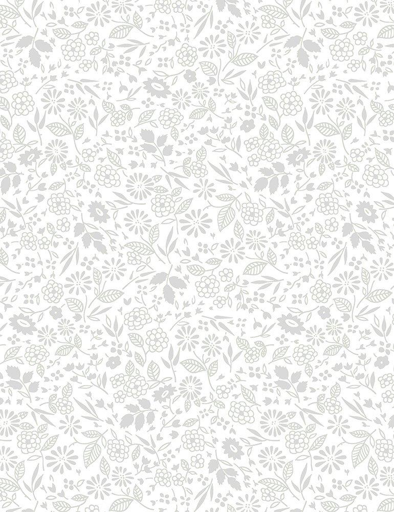 Fabric HUE-C7102-White Mini Garden Hue-C7102-White