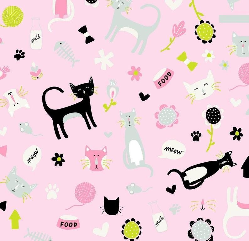 Flannel Meow by Mind's Eye Pink