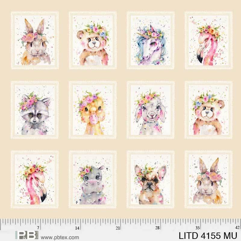 Fabric Panel Little Darlings Tan 04155