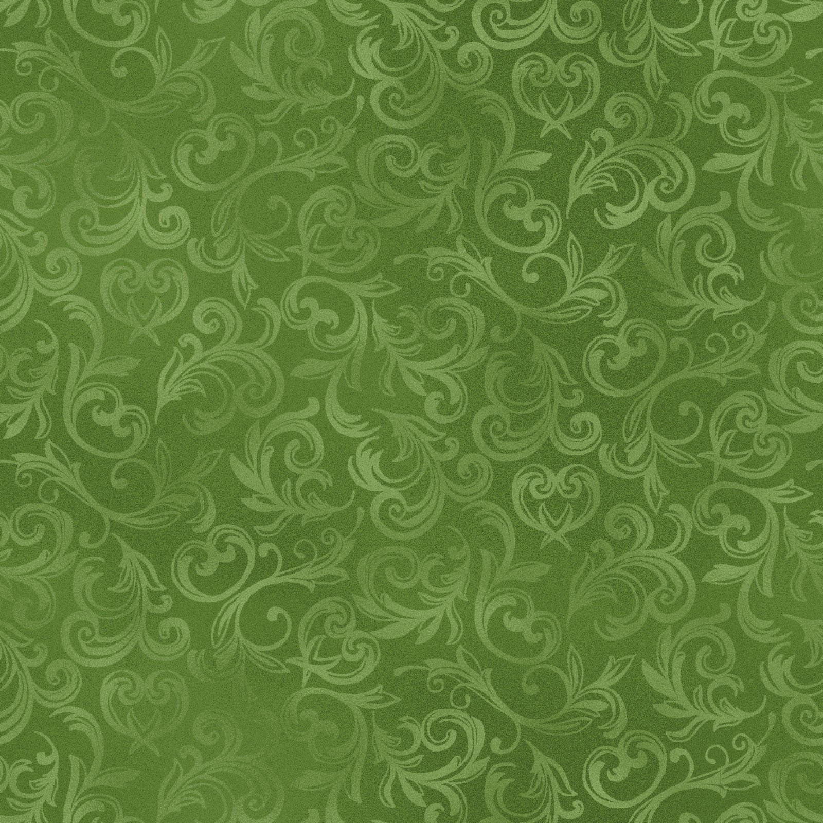 Fabric Pearl Essence Scroll Green