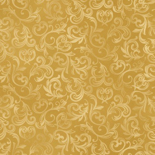 Fabric Gold Pearl Essence Scroll MAS114-S
