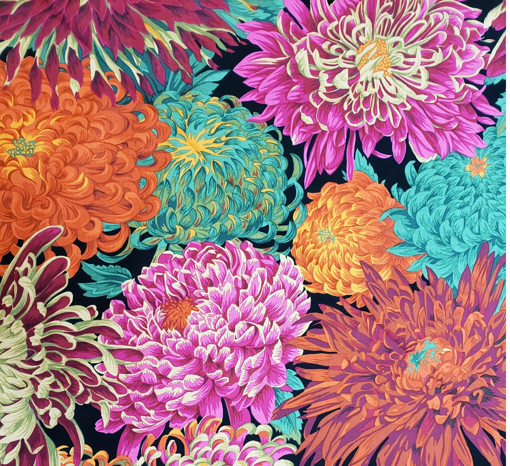 Fabric Japanese Chrysanthemum - Red PJ41.REDXX Kaffe Fassett
