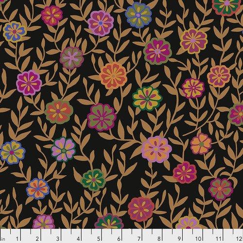 Fabric Busy Lizzy PWGP175.BLACK Kaffe Fassett